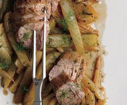 ... Bitten Word: Fennel-Rubbed Pork Tenderloin with Roasted Fennel Wedges