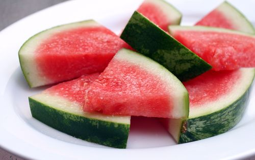 "... party"" quite like this recipe for Tequila-Soaked Watermelon Wedges"