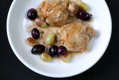 Chicken and grapes